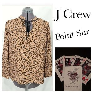 NWT Point Sur J Crew M T Tall Popover Boho Top